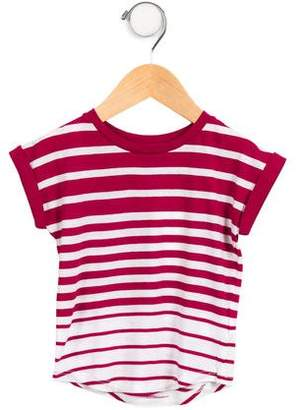 Vince Girls' Striped Short Sleeve Top w/ Tags