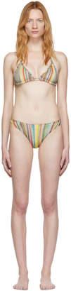Missoni Multicolor Striped Triangle Bikini