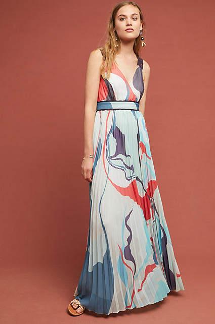 Seen Worn Kept Pleated Maxi Dress