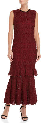 Carolina Herrera Tiered Mermaid Lace Midi Dress