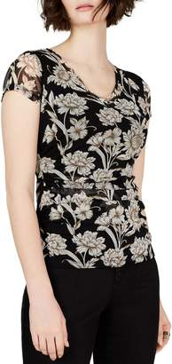 INC International Concepts Petite Printed Ruched Top