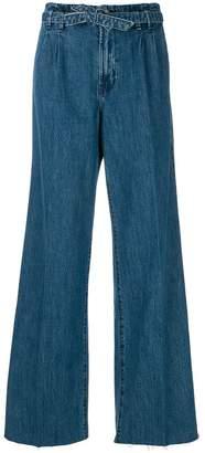 J Brand high waist wide leg jeans