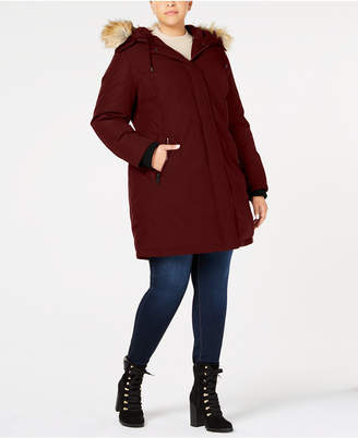 Vince Camuto Plus Size Faux-Fur-Trim Hooded Parka