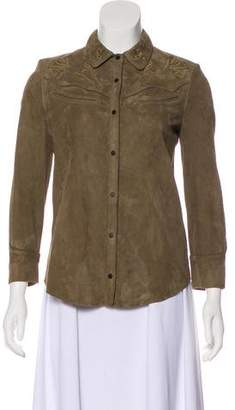 AllSaints Suede Long Sleeve Button-Up w/ Tags
