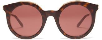 Cat Eye Cartier Eyewear Tortoiseshell Sunglasses - Womens - Tortoiseshell