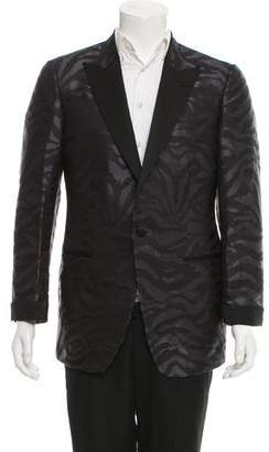 Tom Ford Jacquard Zebra-Print Tuxedo Jacket
