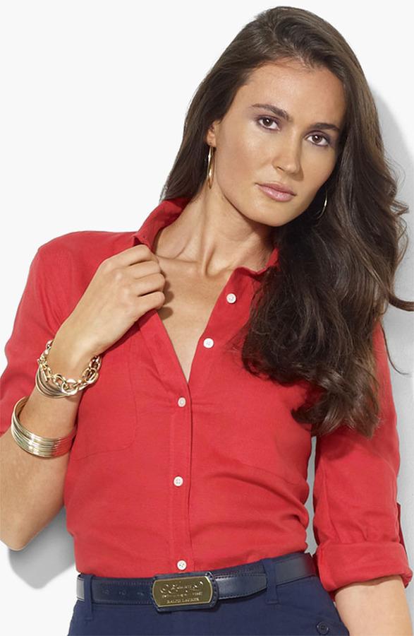 Lauren Ralph Lauren Linen Work Shirt