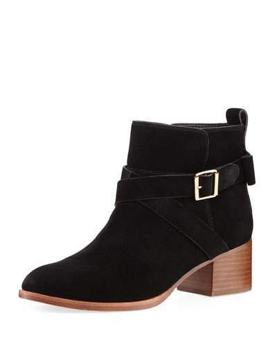 Kate Spade New York Polly Suede Crisscross Strap Bootie