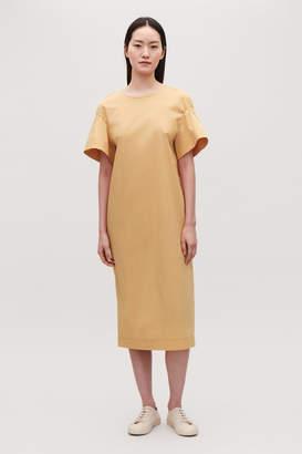 Cos FLARE-SLEEVED POPLIN DRESS