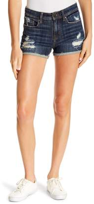 Eunina Denim Lexi Cuffed High Rise Shorts (Juniors)