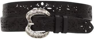 Alberta Ferretti Pierced Leather Belt