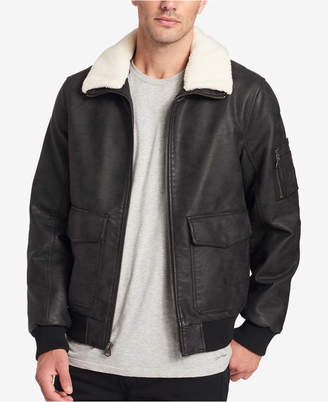 Dockers Faux-Leather Aviator Jacket