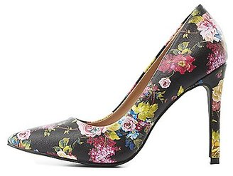 Floral Pointed Toe Pumps $28.99 thestylecure.com