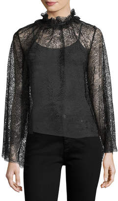 Alice McCall Del Mar Mock Neck Overlay Blouse