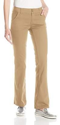 UNIONBAY Women's Juniors Heather Slash Pocket Uniform Bootcut Pant