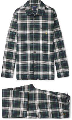 Polo Ralph Lauren Checked Cotton-flannel Pyjama Set