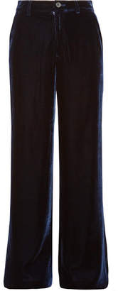 MiH Jeans Welbeck Velvet Wide-leg Pants - Midnight blue