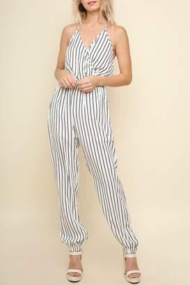Umgee Striped Halter Jumpsuit