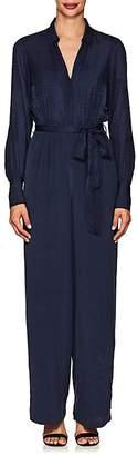L'Agence Women's Justine Snakeskin-Print Silk Jumpsuit