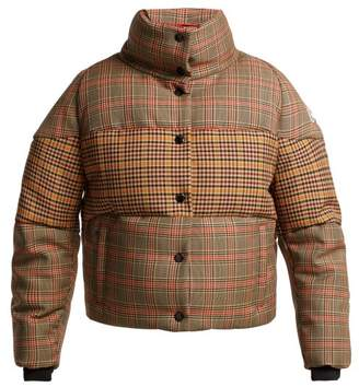 Moncler Cer Checked Wool Blend Jacket - Womens - Beige Multi
