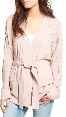 Women's Sun & Shadow Embroidered Kimono $59 thestylecure.com