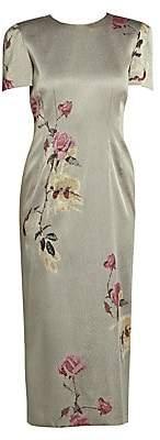 Dries Van Noten Women's Floral-Embellished Lurex Dress