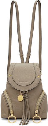 See by Chloé Grey Convertible Backpack $425 thestylecure.com