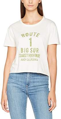 Juicy Couture Women's KNT Route 1 Graphic Tee T-Shirt,(Manufacturer Size: M)