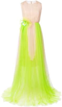 DELPOZO crew neck tulle gown