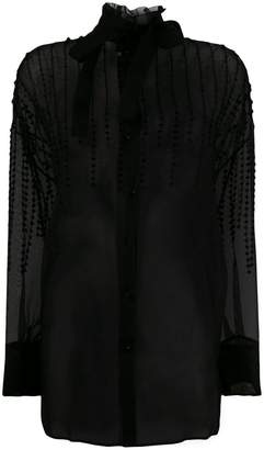 Valentino pussy-bow blouse