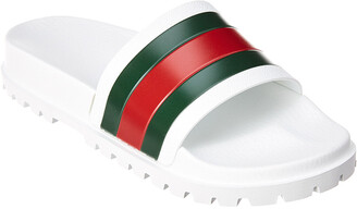 Gucci Leather Web Slide