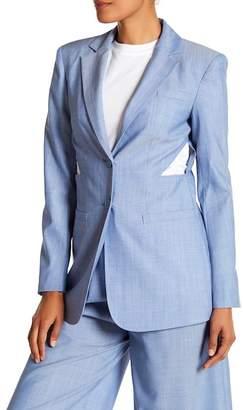 Tibi Side Cutout Wool Jacket
