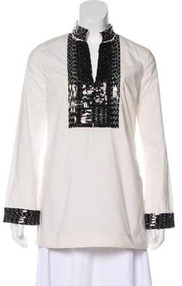 Tory Burch Embellished Long Sleeve Top[ w/ Tags