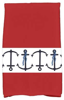 "Simply Daisy 16"" x 25"" Anchor Stripe Stripe Print Hand Towel"