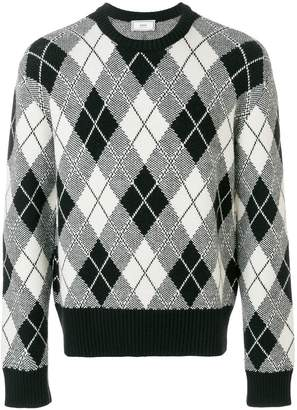 Ami Alexandre Mattiussi Argyle Jacquard Crewneck Sweater