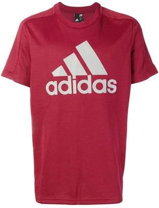 adidas logo print T-shirt