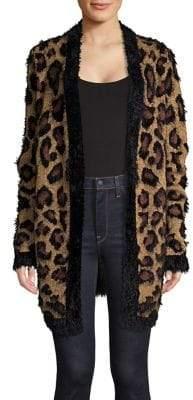 Lord & Taylor Fluffy Leopard Print Cardigan