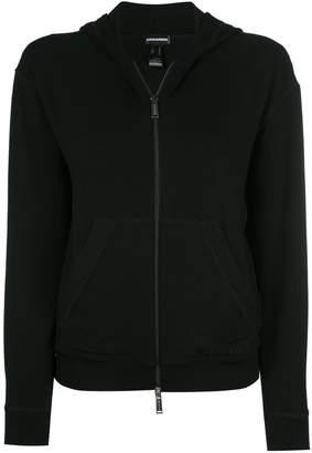 DSQUARED2 velvet zipped hoodie