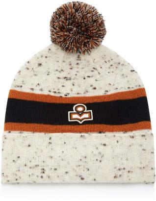 Isabel Marant Halden Pom Pom-Embellished Wool Beanie