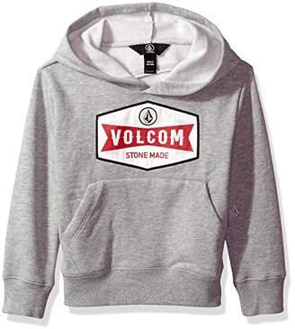 Volcom (ヴォルコム) - (ボルコム) VOLCOM [ キッズ ] 裏起毛 スウェット パーカー (ロゴプリント) 【 Y4131730/Patch Stone Pullover 】 トレーナー 子供服 かわいい Y4131730 GRY GRY_グレー 6