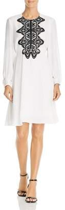 Nanette Lepore nanette Lace-Trimmed Chiffon Dress