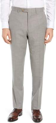 John W. Nordstrom Torino Flat Front Solid Wool Trousers