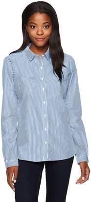 Cutter & Buck Women's Epic Easy Care Long Sleeve Mini Bengal Collared Shirt
