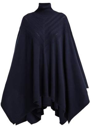 Barrie - Harmony Chevron Cashmere Cape - Womens - Navy