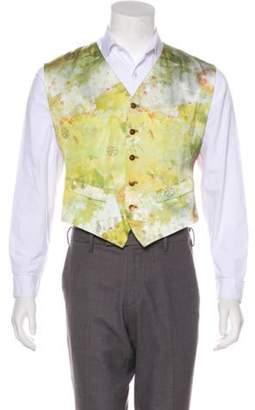 Jean Paul Gaultier Floral Print Suit Vest yellow Floral Print Suit Vest