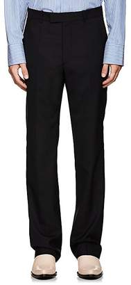 Maison Margiela Men's Wool Flat-Front Trousers