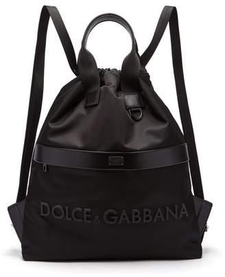 Dolce & Gabbana Rubberised 3d Logo Nylon Backpack - Mens - Black