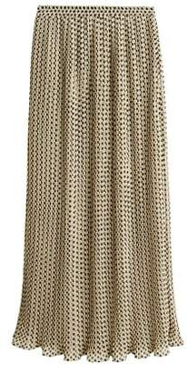 MANGO Pleated long skirt