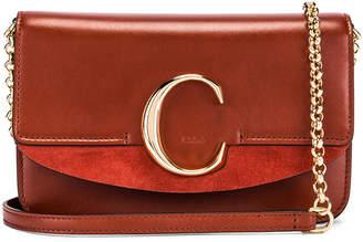 Chloé C Chain Clutch Bag in Sepia Brown   FWRD