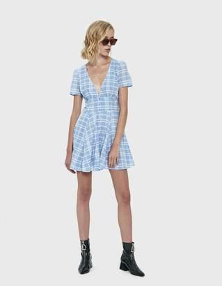 Farrow Jacque V-Neck Plaid Dress